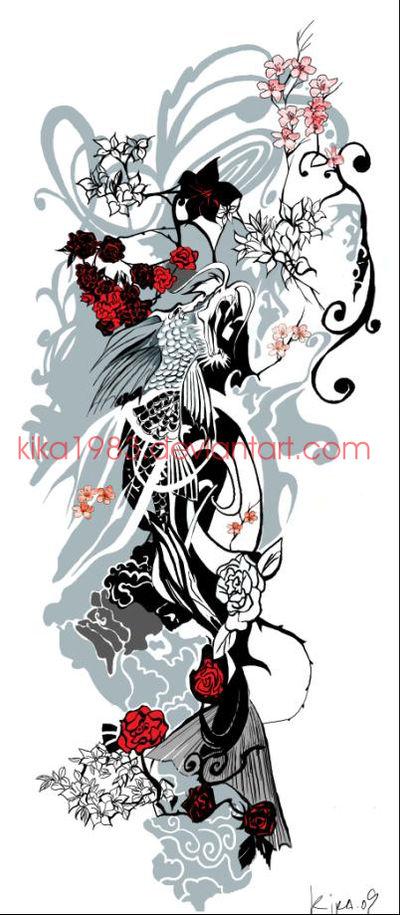 koi dragon-commission by kika1983