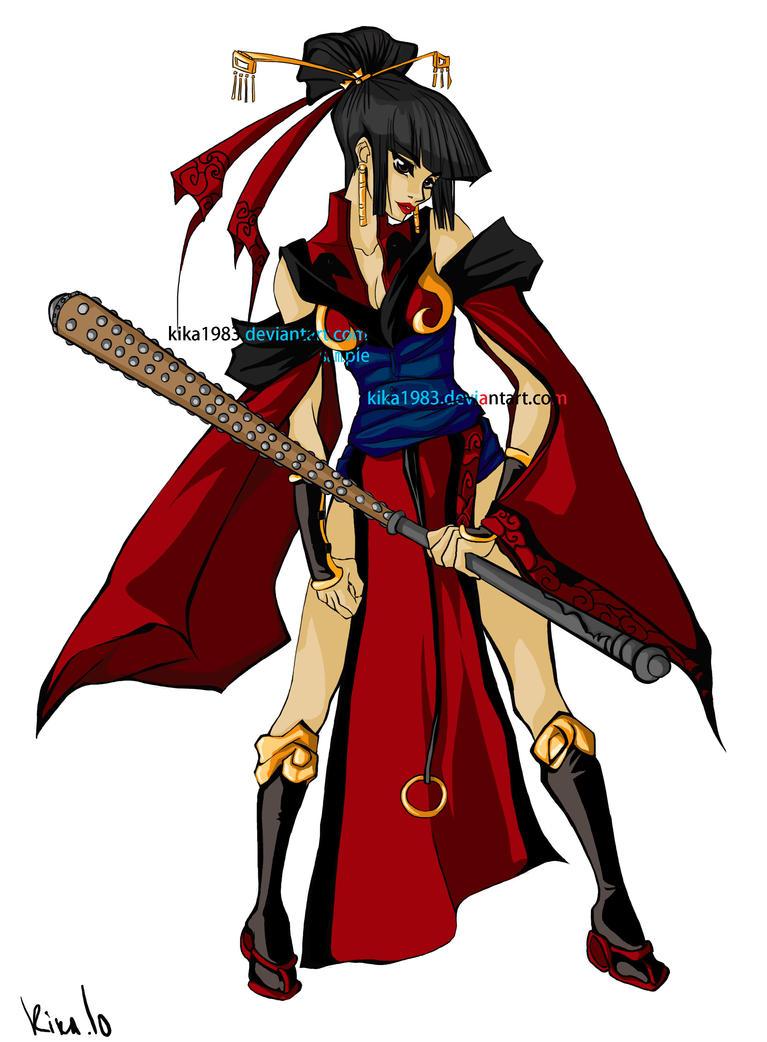 samurai geisha by kika1983