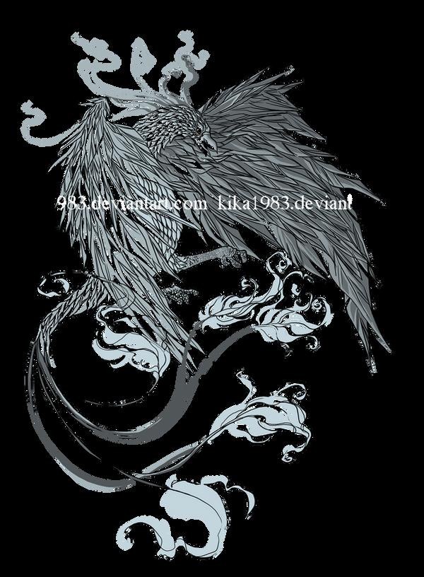 Phoenix tattoo-commission by kika1983