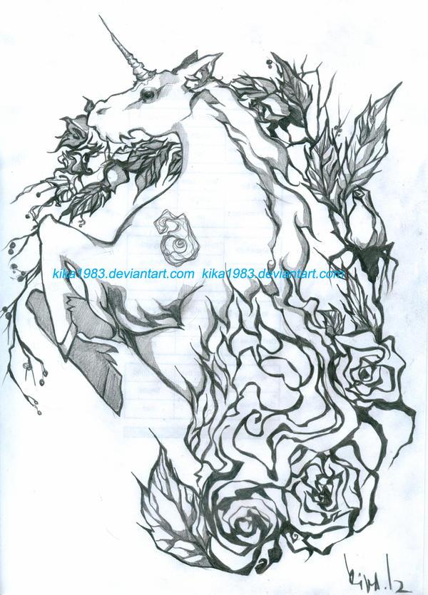 Unicorn tattoo by kika1983