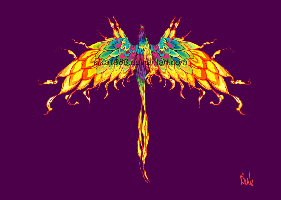 Rainbow Phoenix by kika1983