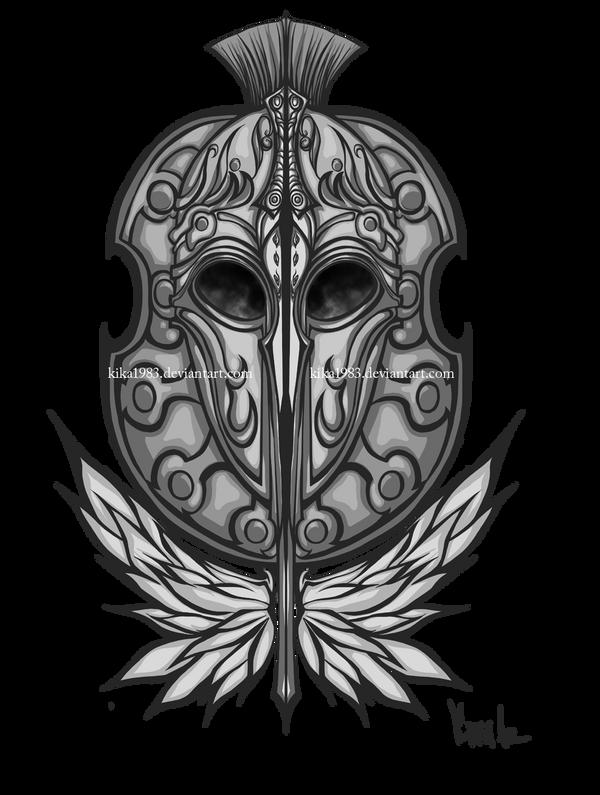 Spirit of Achillies tattoo-commission by kika1983