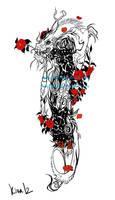 Chineese dragon tattoo-commission by kika1983