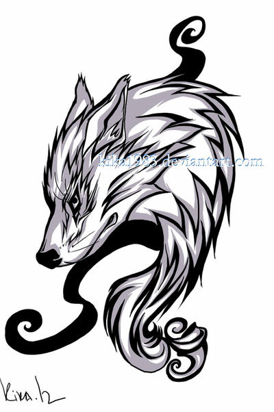 Lone wolf tattoo-commission by kika1983