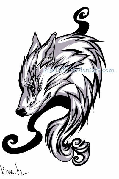 Lone wolf tattoo-commission by kika1983