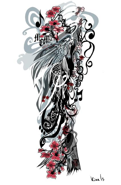 Koi Dragon- tattoo commission by kika1983