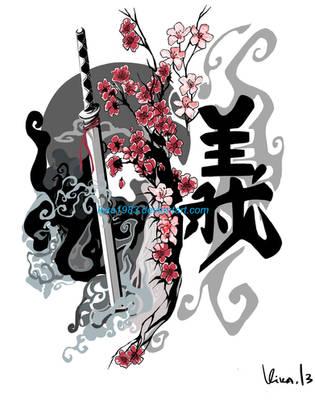 Sword Cherry Blossom Gi-commission by kika1983