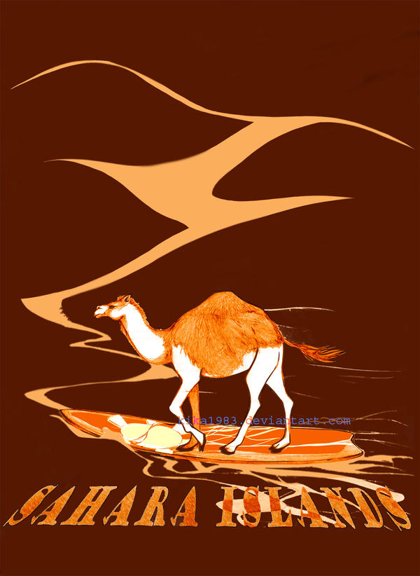 SAHARA ISLANDS t-shirt design commission by kika1983