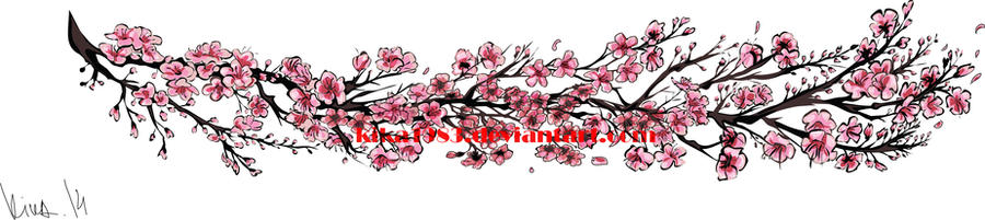 Cherry Blossom wines- tattoo commission by kika1983
