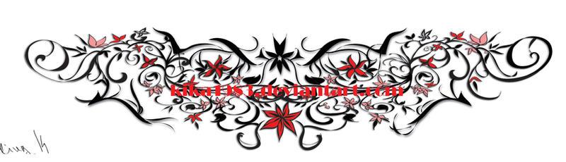 Floral web- tattoo commission by kika1983