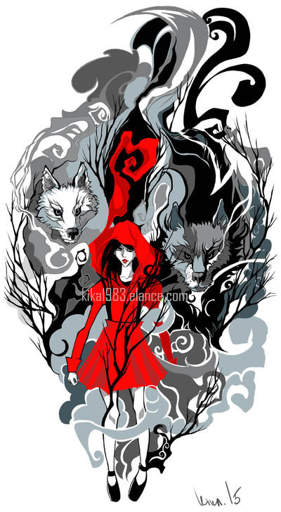 Red Riding hood tattoo- commission by kika1983