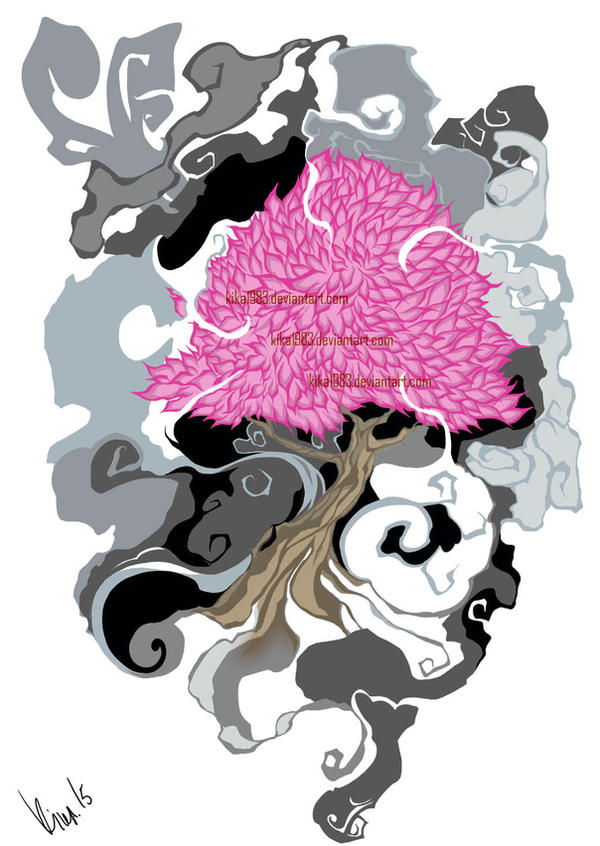 Tree Spirit Tattoo-commission by kika1983