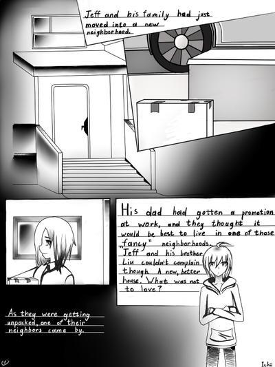 Jeff The Killer Manga 1 Page1(''Jeff the kille...