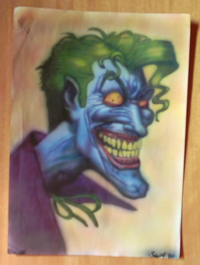 Airbrush Joker Wallpaper: Joker Airbrush By Szigetiart On DeviantArt