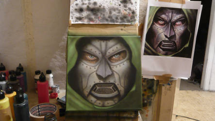 DR Doom airbrush by szigetiart
