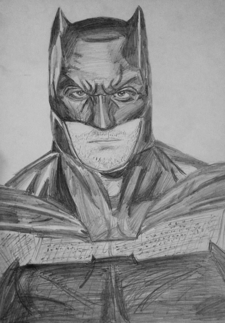 Batman (Ben Affleck) Drawing by AlexLio42