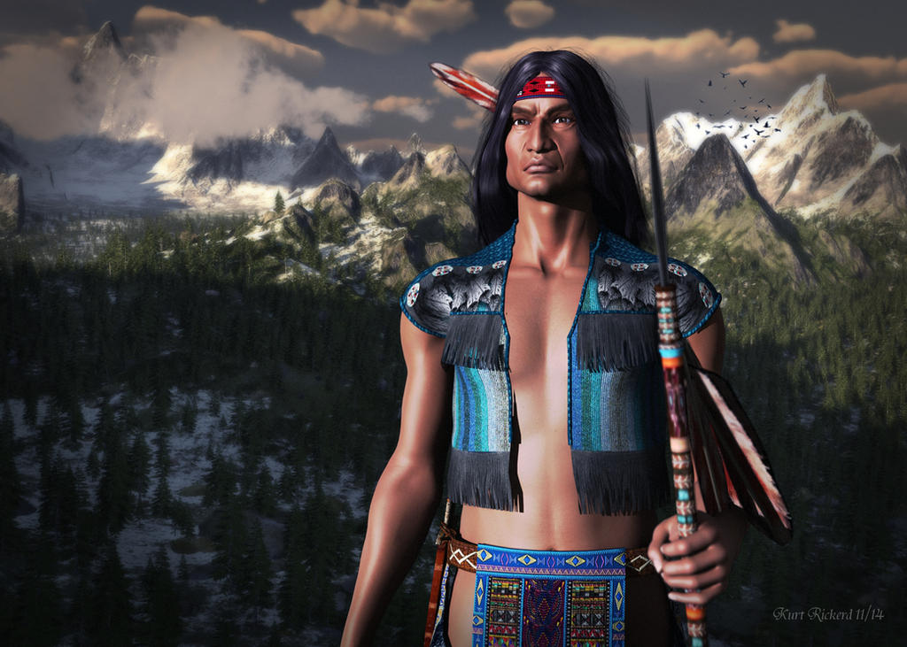 Chief of the Mountains by Polyrender