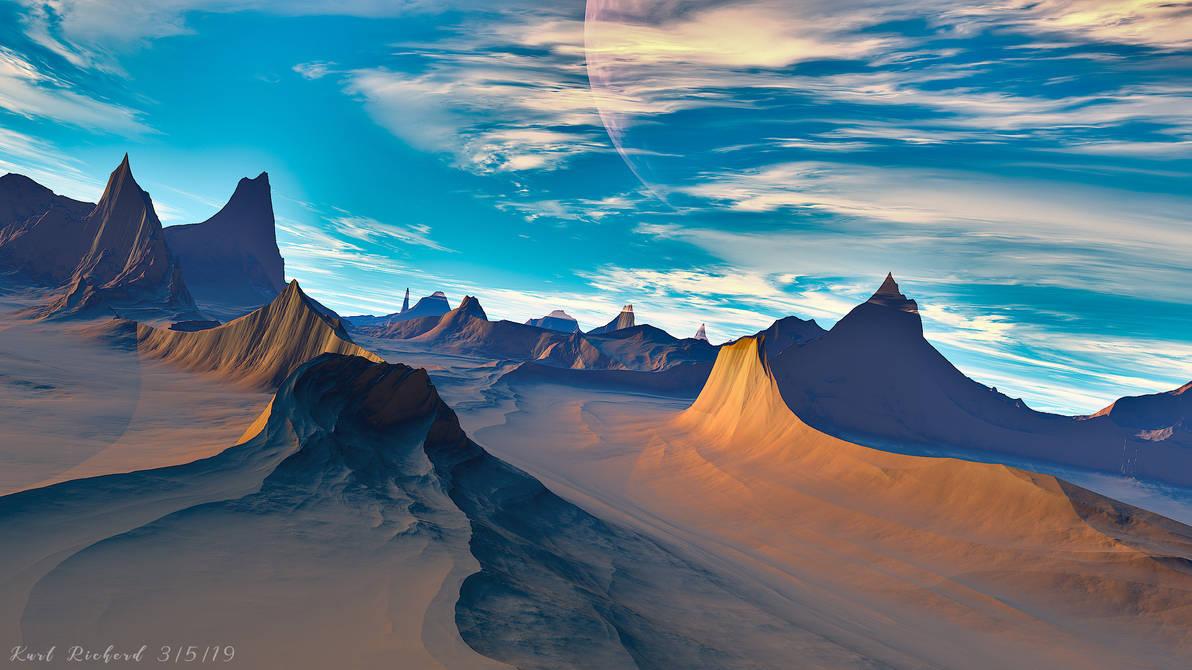 Desert Spires Wallpaper 1 by Polyrender
