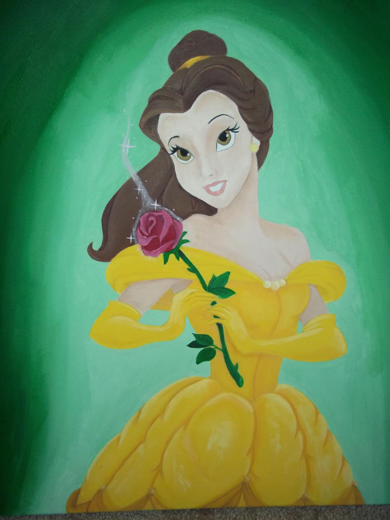 Belle with Rose by ahnahstazia on DeviantArt