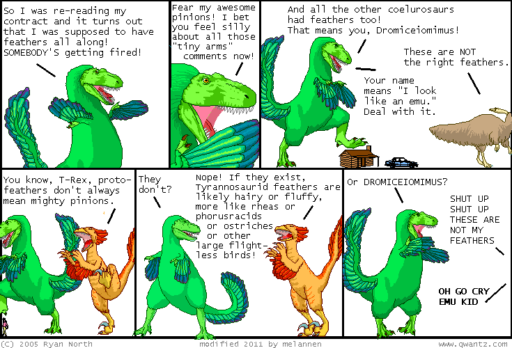Dinosaur Comics. With Feathers.
