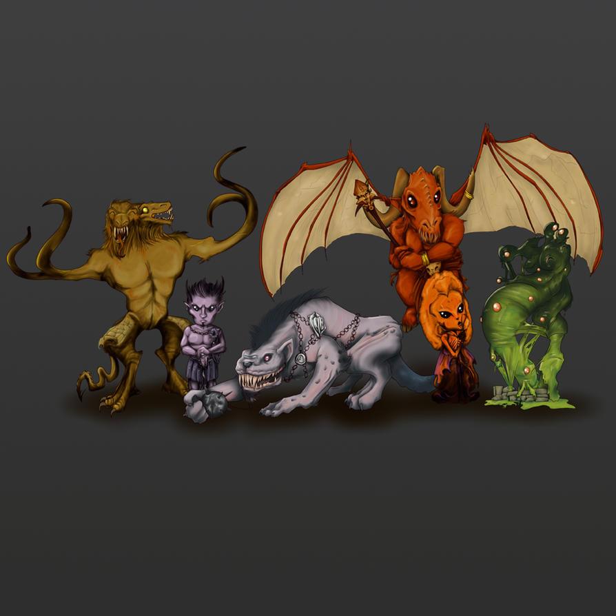 Kawaii Demons by DiHA-Artwork