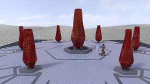Concept: The Monument Of The Void (WIP) by darth-biomech
