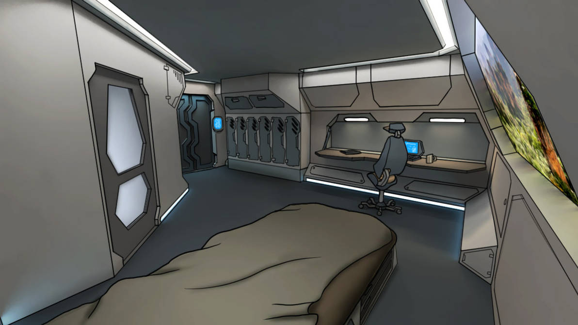 Core ship's apartment cabin by darth-biomech