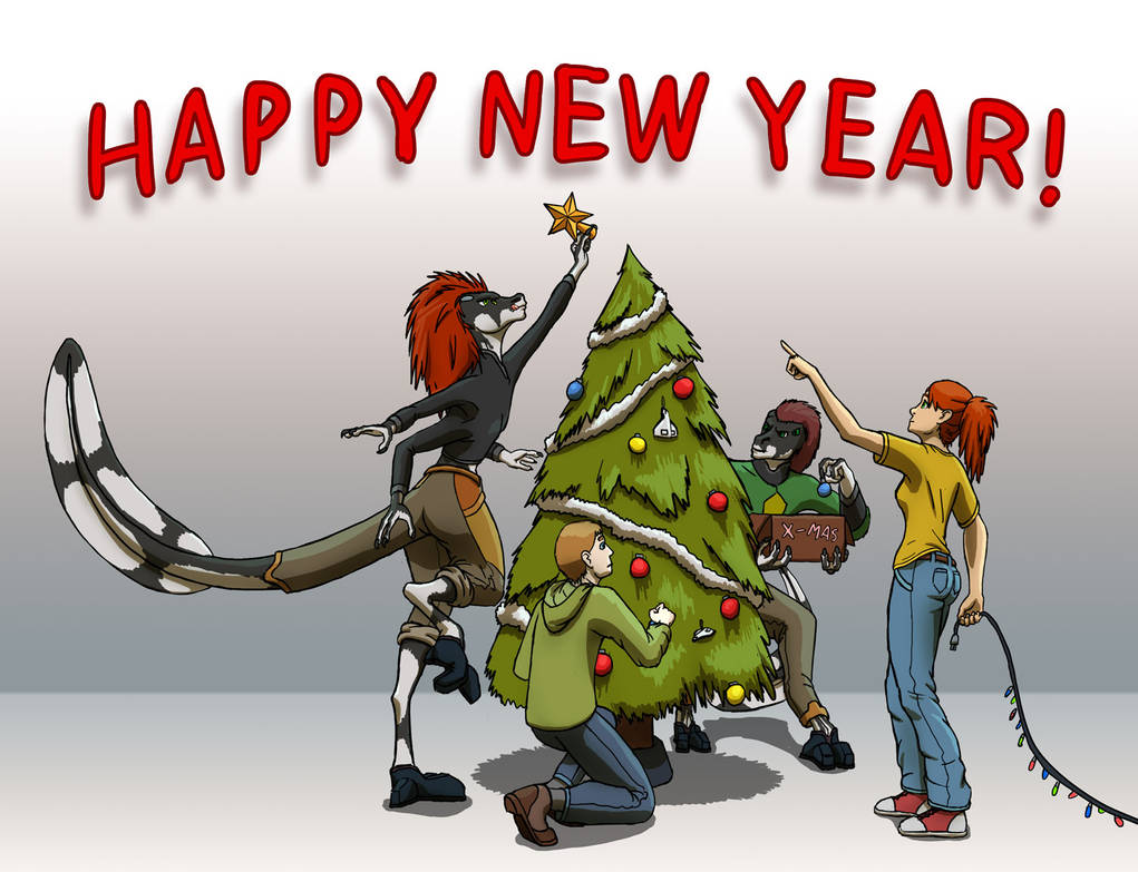 Happy New Year from Leaving The Cradle! by darth-biomech