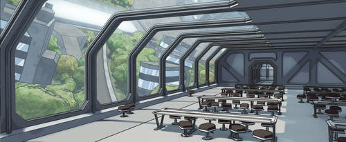 'Dawn' mothership: mess hall