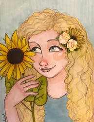Sunflower  by leelamahonart