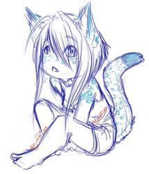 Kat: Chibi Sketch1 by Mashi-chan