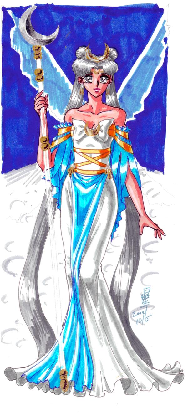 Cosmic Background: Queen Serenity by AmethystSadachbia