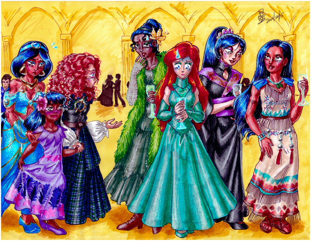 Princess party by AmethystSadachbia