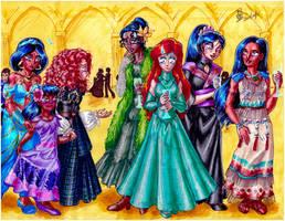Princess party by AmethystSadachbia