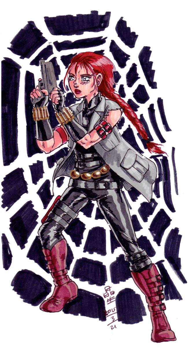 Experimental Black Widow by AmethystSadachbia