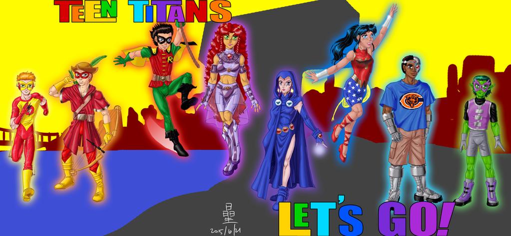 Group pic: Teen Titans by AmethystSadachbia