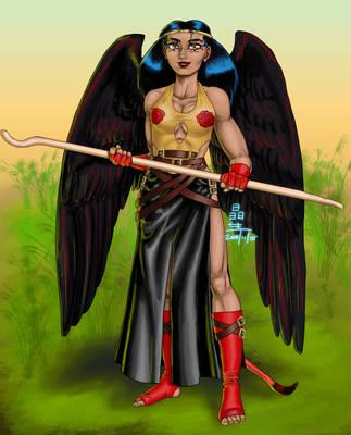 Ever-Reborn Hero Sekhmet by AmethystSadachbia