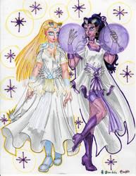 Sailorlight and Sailormana by AmethystSadachbia
