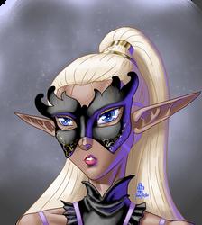 Dark Elf doodle portrait I