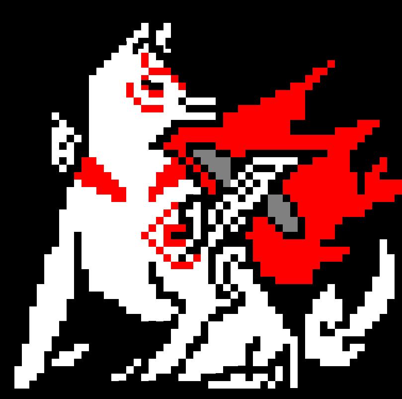 pixel Amaterasu v.2 by hedgehognetworks
