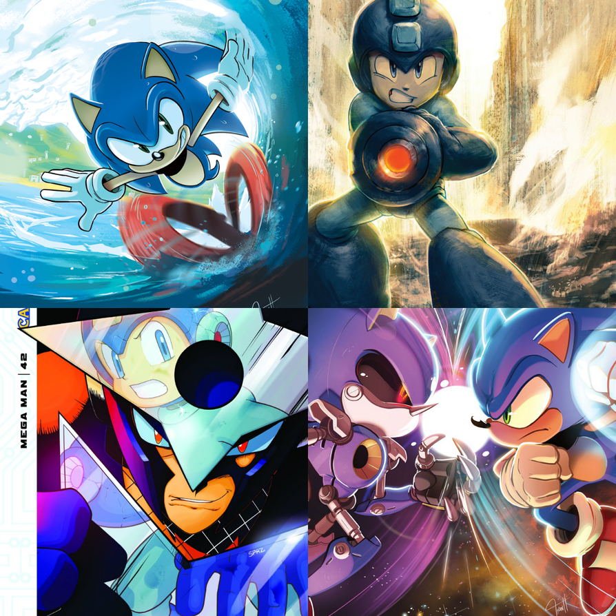 Blue heroes by hedgehognetworks