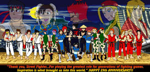 Street Fighter 25th Anniversary Collab by 2ndCityCrusader