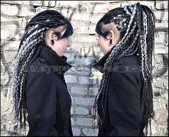 Black'n'silver Head by Masquerade-Infernale