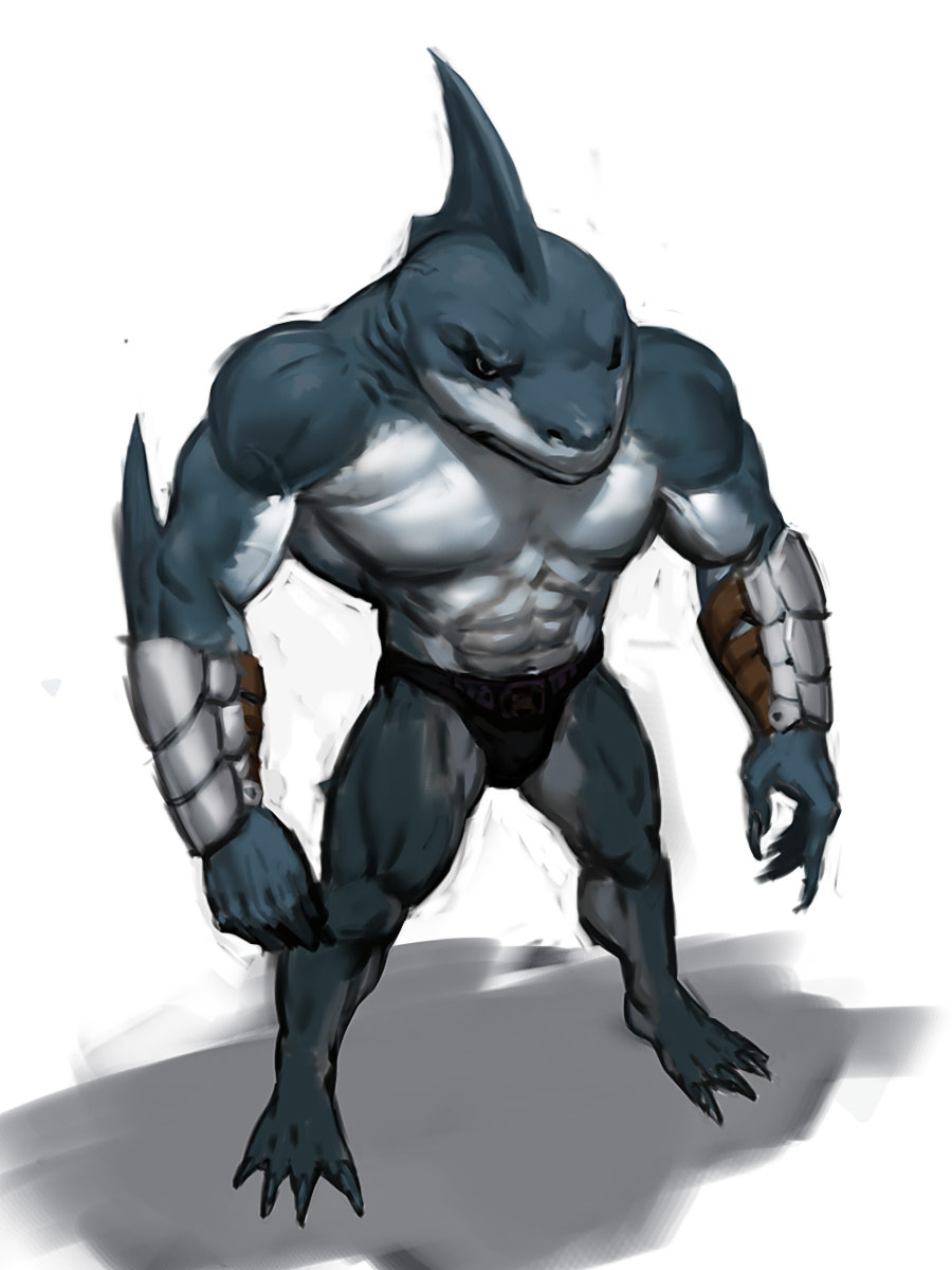 shark humanoid hatched by - photo #12