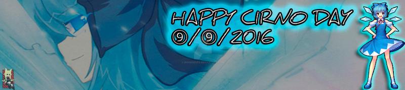 Cirno Day Banner Blog VM by MogegeGFX