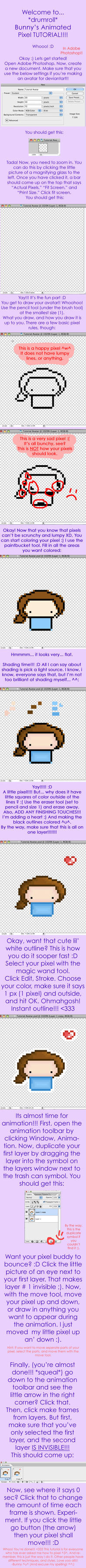 Pixel Avatar Tutorial by indigobunny