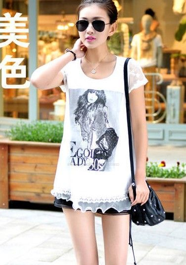 Fashion Style Fashion Girl Printed Lace T Shirt By Hicustomshirt On Deviantart
