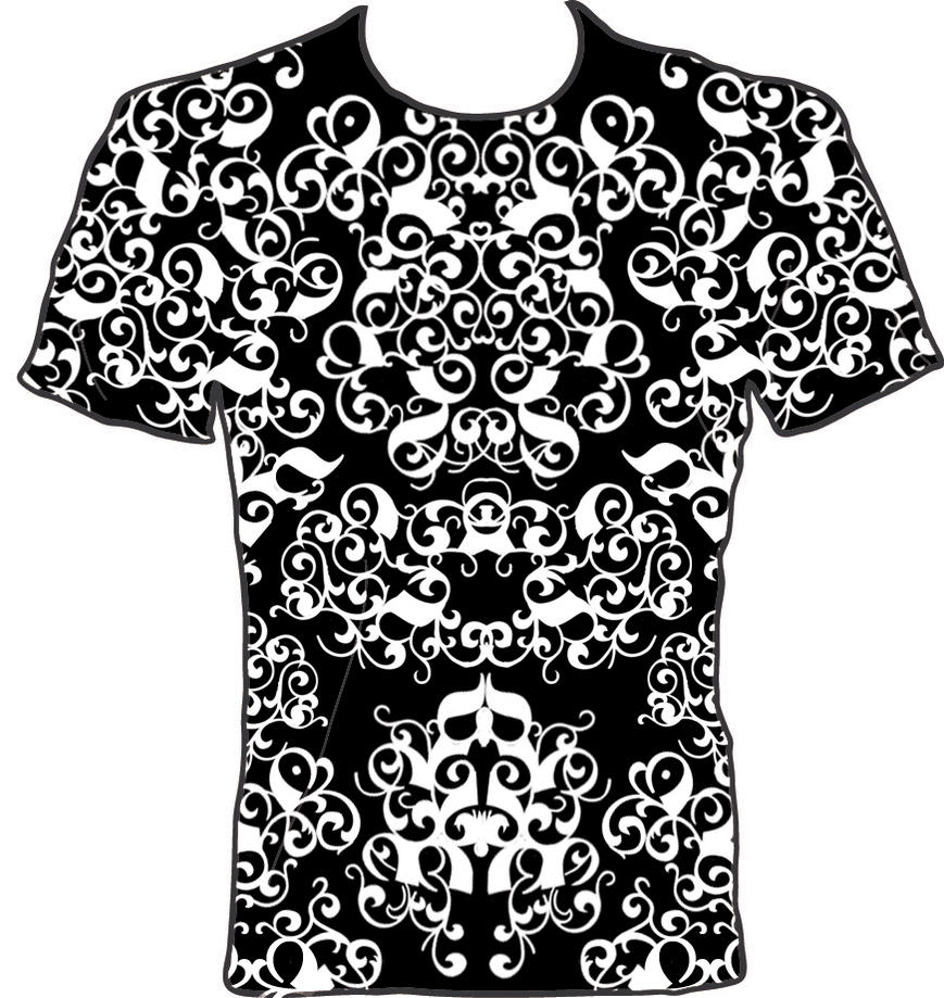 Black t shirt designs - Black White T Shirt Design 1 By Inferlogic