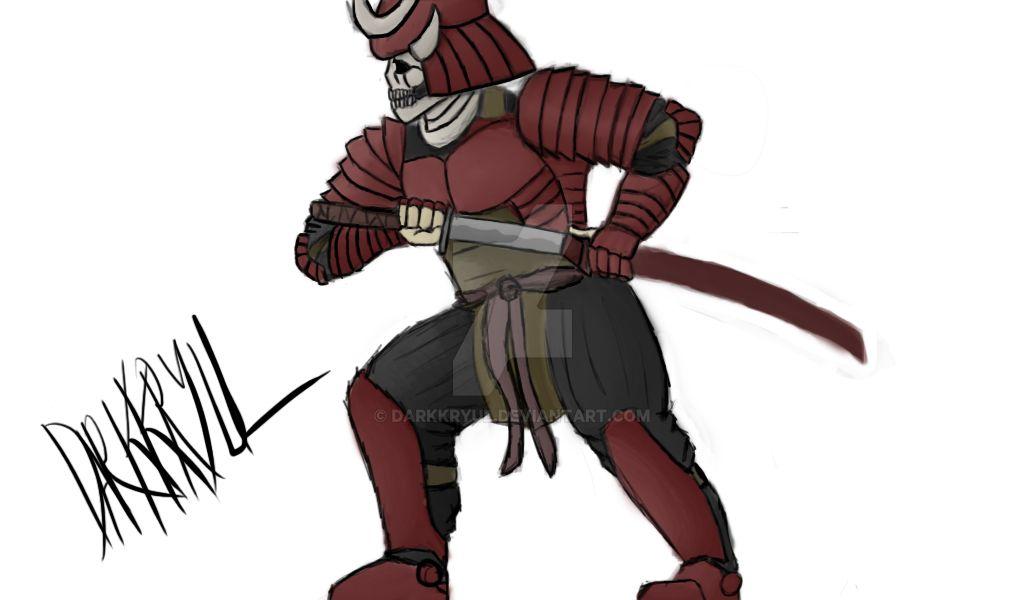 Skull Samurai by darkkryul