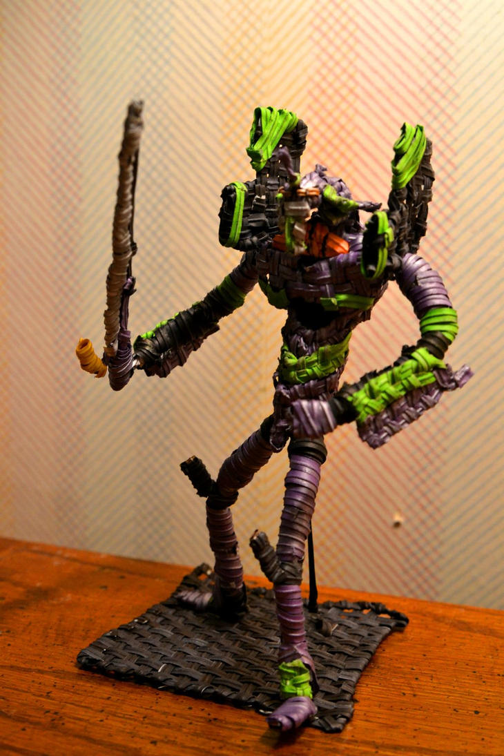 Eva - unit 01 made out of twist ties by justjake54